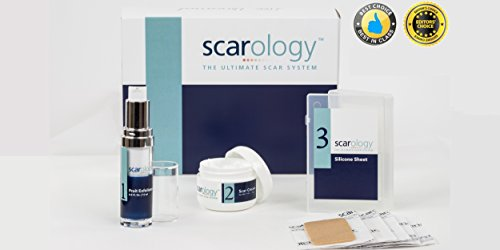 Scarology 3- Step Scar Treatment System - Dr. Recommended, Clinically...