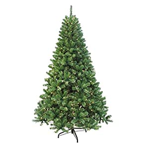 AMERIQUE 691322305647 7 FEET Premium Magnificent Artificial Full Body Shape Christmas Tree with Metal Stand, Unlit, 7' Green 11