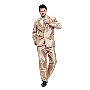 U LOOK UGLY TODAY Mens Party Suit Solid Color Costume Suit for Themed Party Events Clubbing Jacket with Tie Pants
