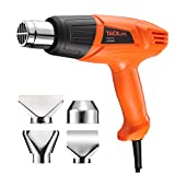 Heat Gun 572℉~ 932℉ Dual Temperature TACKLIFE High Power Hot Air Gun 1500W, 4 Nozzle Attachments, Fast Heating for Thawing Pipes, Stripping Paint, Lighting Charcoal, Shrinking PVC, Removing Rusted Bolts| HGP68AC