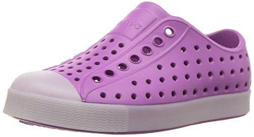native Kids' Jefferson Glow Child Water Shoe, Peace Purple/Glow in The Dark, 8 Medium US Toddler
