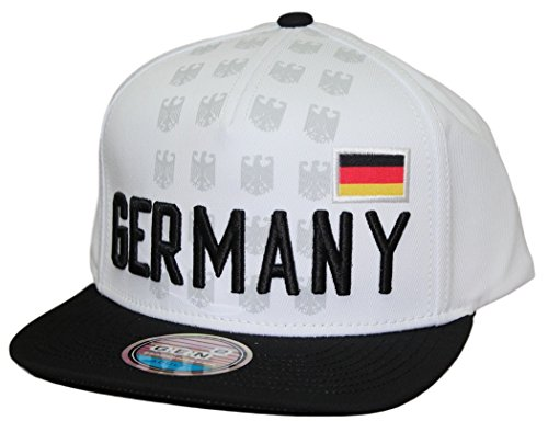World Cup Soccer Germany Mens -Jersey Hook Flag Snapback, White, One Size