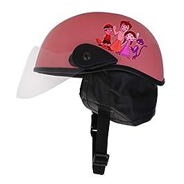 Sage Square Adjustable Junior Cartoon Helmet for Kids Baby Safety and Comfort (3-12 Years) (Pink Matte)