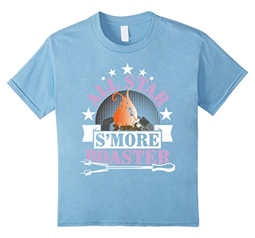- Kids All-Star S'more Roaster Funny Campfire Camping T-Shirt 4 Baby Blue