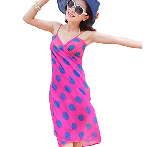 HP(TM)Women Seaside Vacation Chiffon Sling Dress Bohemia Summer Bikini OverSkirt, Bikini Swimwear Cover-up Dress (A)