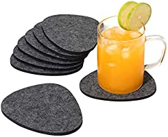 chillify Felt Pebble Coasters for Drinks - Non Slip Hittebestendige Wasbare Coaster Sets - Drie Shades of Grey -...