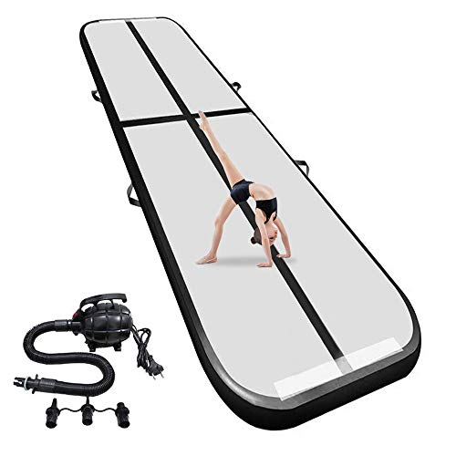 airtrack Tumbling mat 17ft Inflatable Gymnastics Air Track 4 inches Thickness Yoga Taekwondo Water Floating Camping Training mat with The Electrical Pump