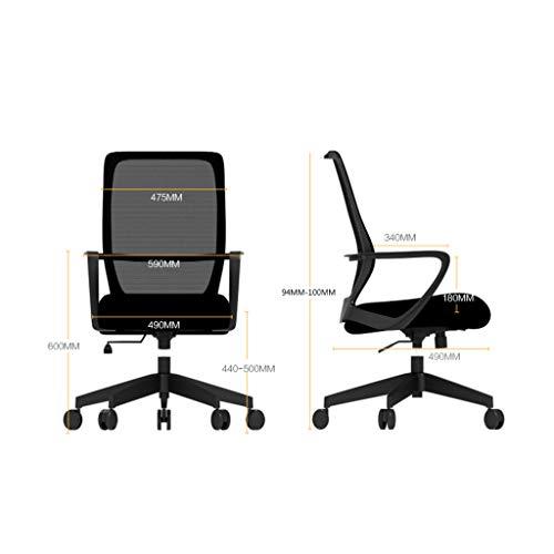 Datorstol ergonomisk mesh kontorsstol, svängbara skrivbordsstolar hög rygg datoruppgift stolar med justerbart ryggstöd, armstöd och sitthöjd för konferensrum