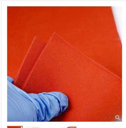 Gimax 500X500X6mm, Good Quality Silicone Sponge Sheet for Heat Transfer Print & Mechanical Sealing Closed Cell Foam Silicon Sheet, RED by GIMAX