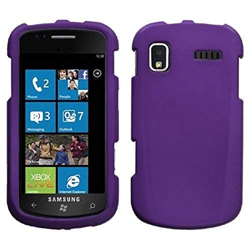 - Insten Rubberized Hard Snap-in Case Cover Compatible with Samsung Focus SGH-i917, Purple