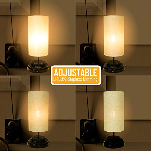 AULTRA LED Touch Table LAMP - Table Lamp Shade with Dimmable Touch Control Features & Phone Charging Port Used for… 4