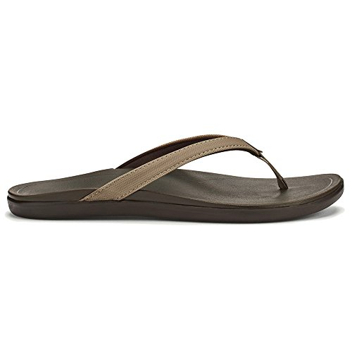Java Ho'opio Sandal Women's Leather OluKai Dark Clay xHYCqYwB
