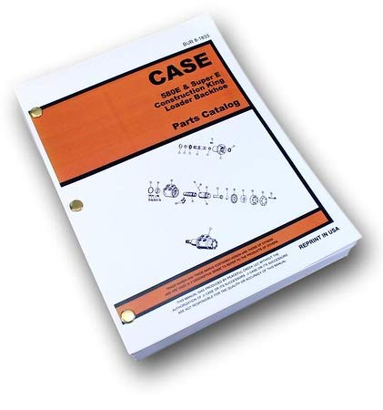 (Case 580E 580Se 580 Super E Loader Backhoe Parts Assembly Manual Catalog Book)