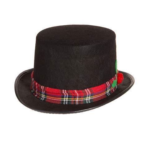 darice 1 caroler Snowman Black Fabric Top Hat Costume Holiday