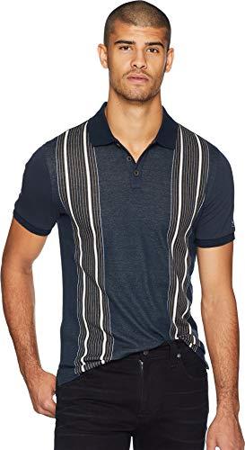 (Original Penguin Men's Short Sleeve Vertical Stripe Polo Dark Sapphire XX-Large)