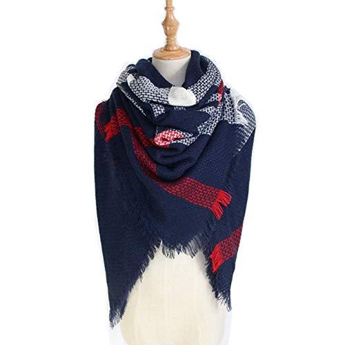 Beydodo Wool Scarf Women Oversize 140x140CM Tartan Scarf Womens Shawls and Wraps Winter Scarfs Men -
