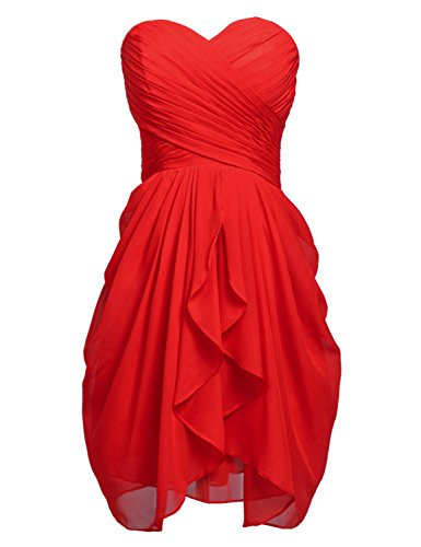 Gown Red Belle Dresses Women's Bridesmaid Chiffon House Short Party 0w8Aq0r