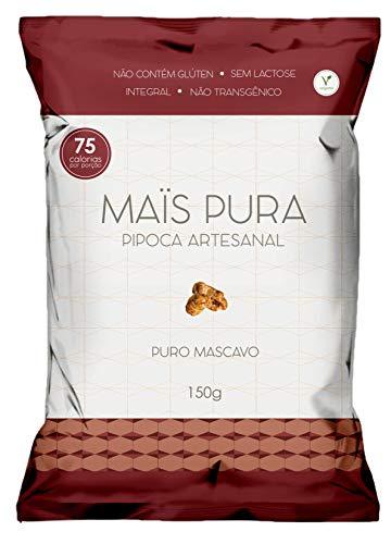 Pipoca Artesanal Sabor Puro Mascavo Maïs Pura 150g