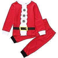 GoodLock Baby Boys Girls Clothes Set Christmas Children Kids Cartoon Button Print Top T-Shirt+Pants Outfit 2Pcs