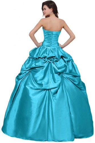 Quinceanera Blue Dresses Dearta Gown Floor Ball Sweetheart Satin Length Women's AFnq0wT1xg