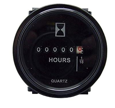 """12v 24v 36v Hour Meter 2"""" Round Analog for Marine Boat Engine Gauge"""