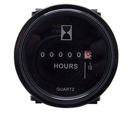 12v-24v-36v-hour-meter-2-round-analog-for-marine-boat-engine-gauge
