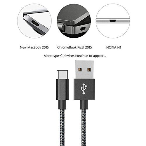 Type-C-Cable-MCUK-4Pack-1ft-3ft-6ft-10ft-Nylon-Braided-USB-C-Data-Charging-Cable-for-Galaxy-S8-S8-Nintendo-Switch-Nexus-6P5X-LG-V20-G5-G6-OnePlus-23-HTC-10-and-More-Silver
