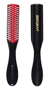 Denman Classic Styling Brush 5 Row D14 – Hair Brush for Separating, Shaping & Defining Curls - Blow-Drying, Styling & Detangling Brush – Black