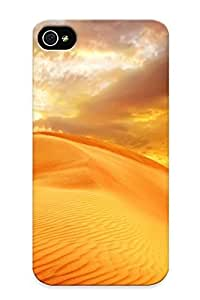 Rugged Skin For Apple Iphone 5C Case Cover - Eco-friendly Packaging(sunrise Sand Landscape Clouds Nature Desert Sky Dune )