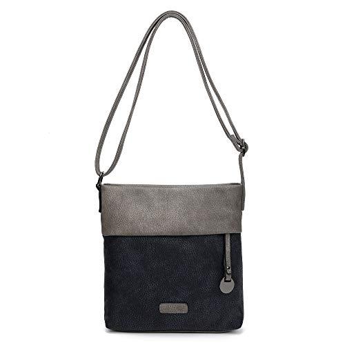 2-TAGE-LIEFERZEIT: CASAdiNOVA Handtasche Damen - Umhängetasche, Schultertasche Schwarz - 25x26x5 Cm