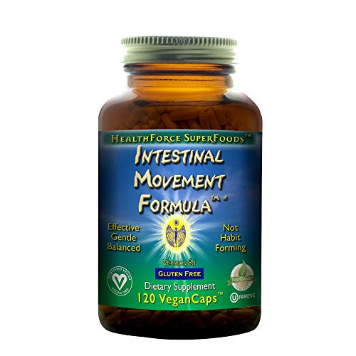 HealthForce SuperFoods Intestinal Movement Formula - 120 Vegan Capsules - All Natural Herbal Laxative, Supports Maximum Colon Cleansing - Organic, Gluten Free - 120 Total Servings