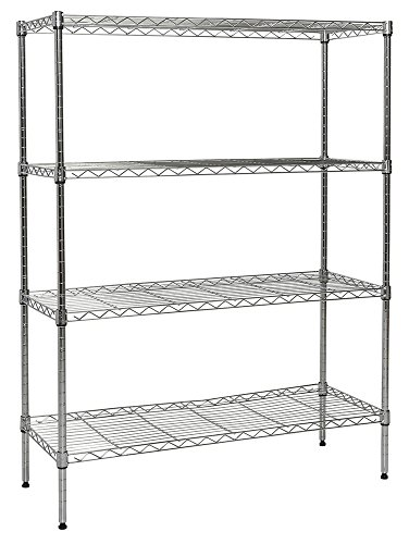 Apollo Hardware Chrome 4-Shelf Wire Shelving with Wheels 14