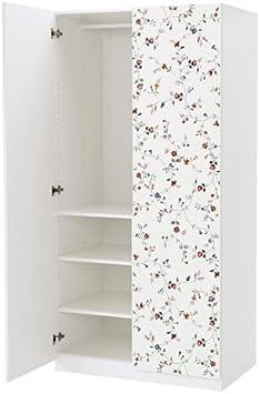 Ikea 34386.2658.420 - Bisagra de Cierre Suave, Color Blanco, diseño Floral marnardal, 39 3/8 x 23 5/8 x 79 1/4