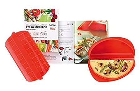 Lékué Kit Cocina Vapor, Rojo, 1-2 Personas: Amazon.es: Hogar