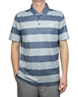 Nike Golf Victory Bold Stripe Polo Shirt Men's SZ Large Blue/Gray 873449 449