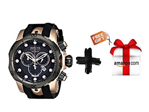 Invicta Men's 0361 Reserve Collection Venom Chronograph 18k Rose Gold-Plated Stainless Steel Watch + Free (Chronograph 18k Rose)