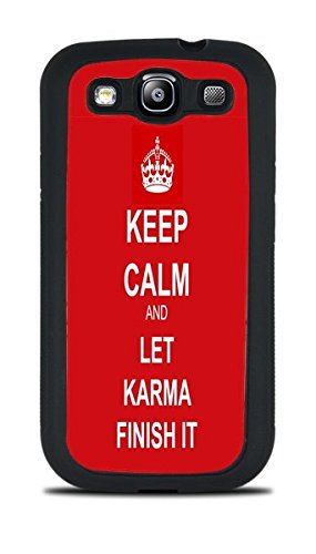 Trendy Keep Calm Phone Case Black Silicone Case for Samsung Galaxy S3