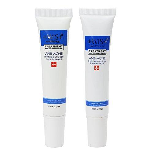 Wis 2 Pc Anti Acne Scar Removal Cream  Effaclar Duo Dual Action Acne Treatment Vitamin B6 Cream Kit  Acne Printed Spot Treatment 18G   0 63 Fl Oz