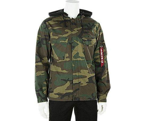 Alpha Industries Coats - Alpha Industries Men's Fortitude Americana Field Coat, Woodland Camo, M