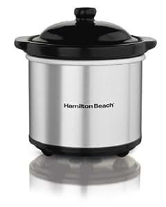 Hamilton Beach 33101 Party Dipper Food Warmer, Under 2 Quarts, Silver