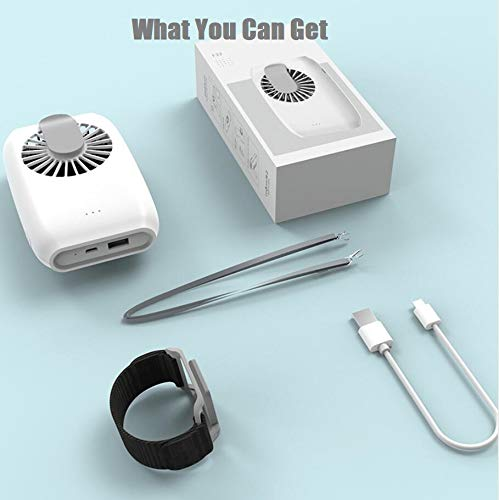 Portable Fan Personal Fan Small Powerful Handheld Mini USB Fan Fan Speed Adjustable USB Rechargeable For Desk Neck Travel Office (White)