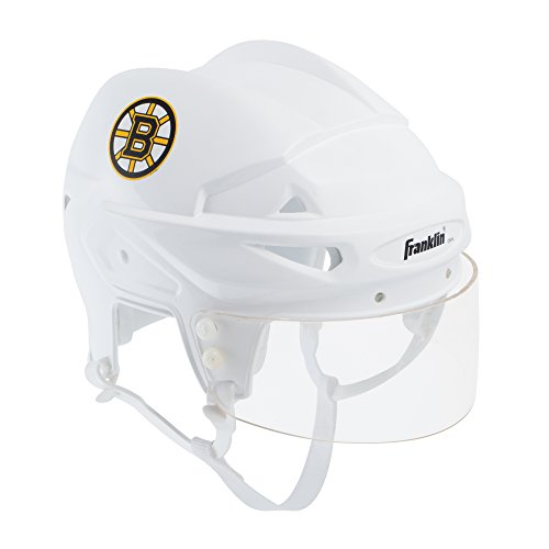 Franklin Sports Boston Bruins Mini Player Helmet - White Helmet w/Player Number Stickers - Great for Autographs - NHL Official Licensed Product