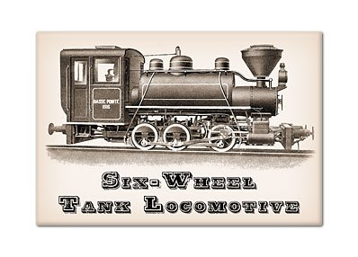 Six Wheel Tank Locomotive Steam Engine Fridge Magnet