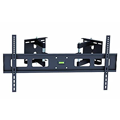 "InstallerParts Flat TV Corner Mount 37""~63"" Black -- For LCD LED Plasma TV Flat Panel Displays -- Articulating Dual Arm Full Mount Wall Bracket"