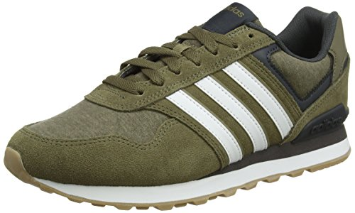 adidas Men 10k Running Shoes, Green Multicolour (Dark Cargo F14-st/Crystal White S16/Cargo S14 Dark Cargo F14-st/Crystal White S16/Cargo S14)