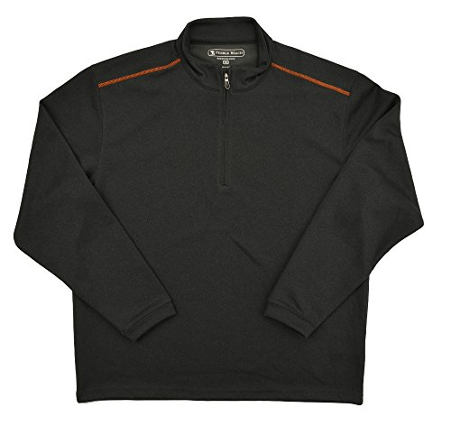Pebble Beach Performance Mens Golf Pullover 1/4 Zip Charcoal, Medium
