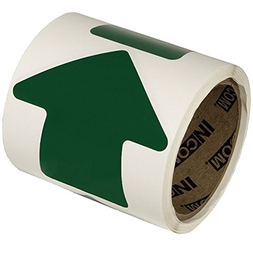 Incom Manufacturing: 4'' Vinyl Arrow, Green, (Roll of 100) by Incom