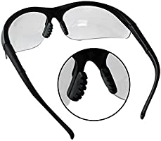Kurtzy 12 Pack of Black Clear Lens Protective Safety Glasses Goggles by Bulk Set