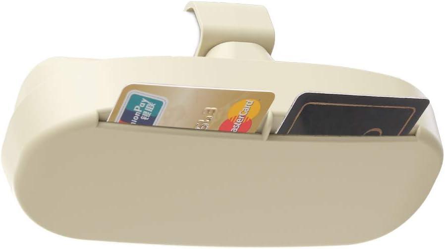 Eyeglasses Card Holder Mount for Car Sunglasses Case Organizer Box with Ticket Clip Beige ? YRCP Glasses Holder for Car Sun Visor