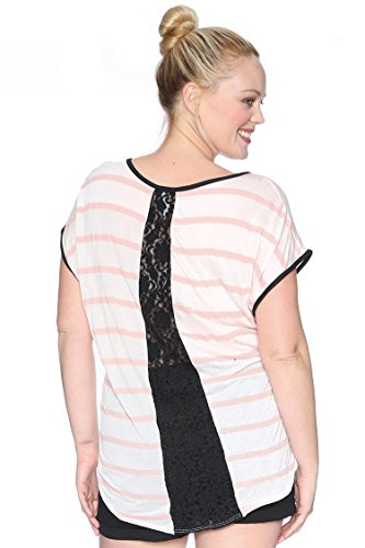 Plus Size Assorted Clearance Knit Top $4.99 Peach 1X